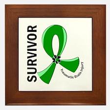 TBI Survivor 12 Framed Tile