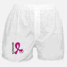 Breast Cancer Survivor 12 Boxer Shorts