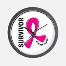 Breast Cancer Survivor 12 Wall Clock