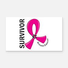 Breast Cancer Survivor 12 Rectangle Car Magnet