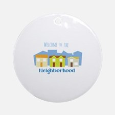 Houses in a Row Ornament (Round)