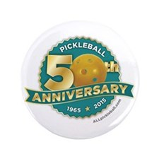 """Pickleball Anniversary 3.5"""" Button"""