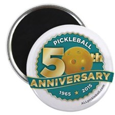 Pickleball Anniversary Magnets 2.25""