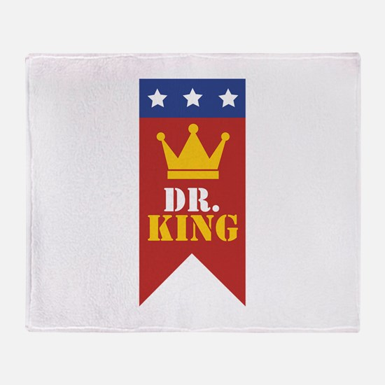 Dr. King Throw Blanket