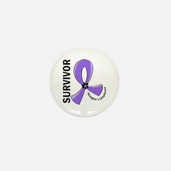 Hodgkin's Lymphoma Survivor 12 Mini Button