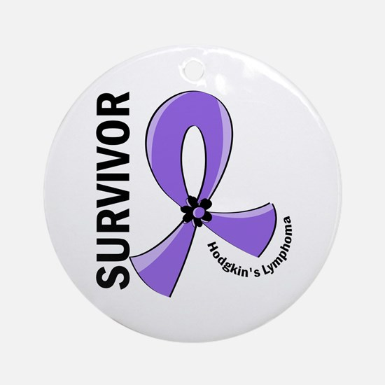Hodgkin's Lymphoma Survivor 12 Ornament (Round)