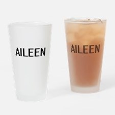 Aileen Digital Name Drinking Glass