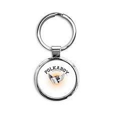 Cute Polka Round Keychain