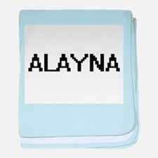 Alayna Digital Name baby blanket