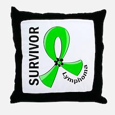Lymphoma Survivor 12 Throw Pillow