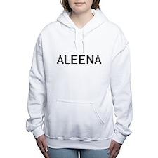 Aleena Digital Name Women's Hooded Sweatshirt