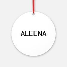 Aleena Digital Name Ornament (Round)