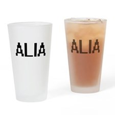Alia Digital Name Drinking Glass