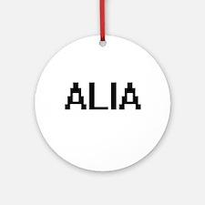 Alia Digital Name Ornament (Round)