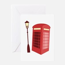 Red Phone Booth Greeting Cards
