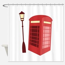 Red Phone Booth Shower Curtain