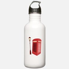 Red Phone Booth Water Bottle