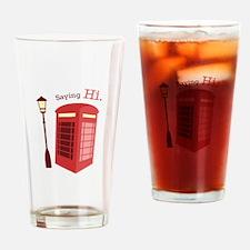 Saying Hi Drinking Glass