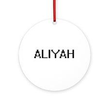 Aliyah Digital Name Ornament (Round)