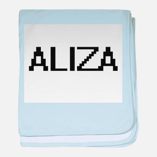 Aliza Digital Name baby blanket