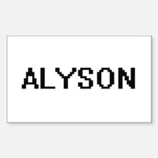 Alyson Digital Name Decal