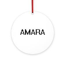 Amara Digital Name Ornament (Round)