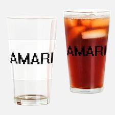 Amari Digital Name Drinking Glass