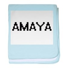 Amaya Digital Name baby blanket