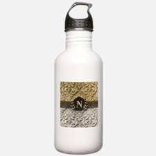 Damask 2 Gold Platinum Monogram Water Bottle