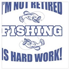 Retirement Fishing Humor Framed Print