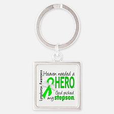 Lymphoma Heaven Needed Hero Square Keychain