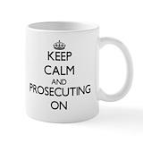Keep calm and prosecute on Coffee Mugs