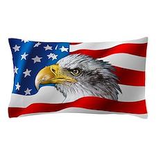 Bald Eagle On American Flag Pillow Case
