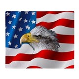 American flag Fleece Blankets