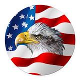 Bald eagle Round Car Magnets