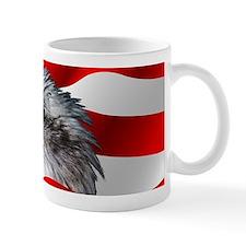 Bald Eagle On American Flag Mugs