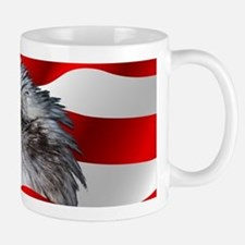 Bald Eagle On American Flag Mugs