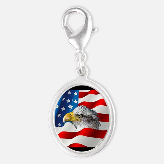 Bald Eagle On American Flag Charms
