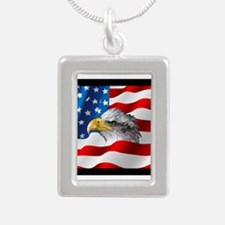 Bald Eagle On American Flag Necklaces