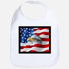 Bald Eagle On American Flag Bib