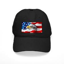 Bald Eagle On American Flag Baseball Hat