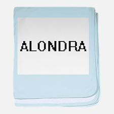 Alondra Digital Name baby blanket