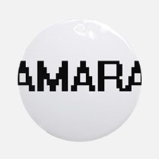 Amara Digital Name Ornament (Round)