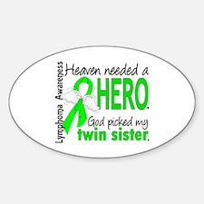 Lymphoma Heaven Needed Hero Sticker (Oval)
