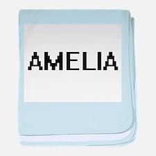 Amelia Digital Name baby blanket