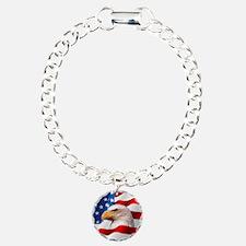 Bald Eagle On American F Bracelet