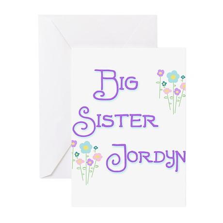 Big Sister Jordyn Greeting Cards (Pk of 10)