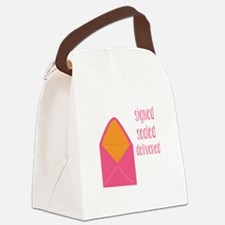 Signed Sealed Delivered Canvas Lunch Bag