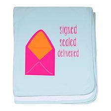 Signed Sealed Delivered baby blanket