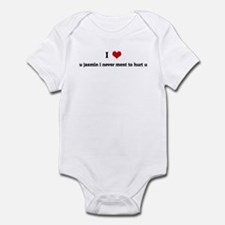 I Love u jasmin i never ment  Infant Bodysuit